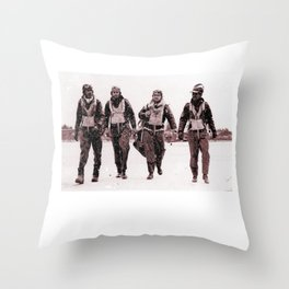 Tuskegee Airmen 322 Fighters P51 Black History Throw Pillow