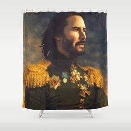 Keanu Reeves Poster, Classical Painting, Regal art, General, John Wick, Matrix, Actor Print Shower Curtain