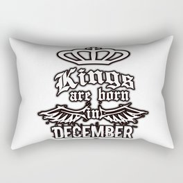 Kings are born in December Rectangular Pillow