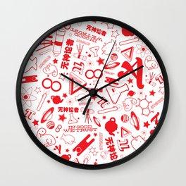 Scarlet A - Version 1 Wall Clock