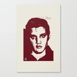 Elvis in Dogtooth Canvas Print