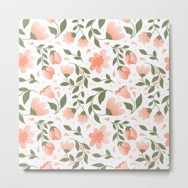 Meadow Flower Pattern C7 Metal Print