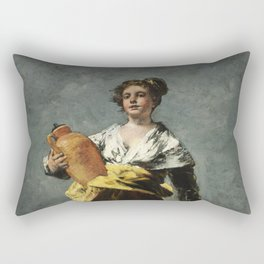Francisco Goya - The Milkmaid  Rectangular Pillow