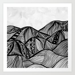 Lines in the mountains 06 Art Print