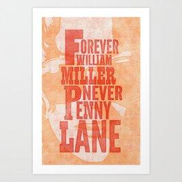 Never Penny Lane Art Print