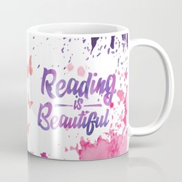 Reading is Beautiful - Splash Coffee Mug