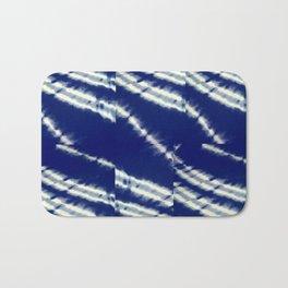 blue tie dye Bath Mat