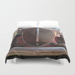 Truck Grill, Old Truck, Old Truck Grill Duvet Cover