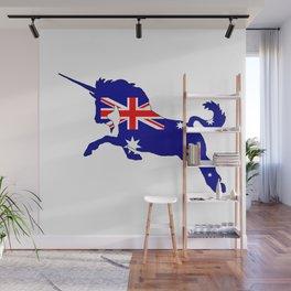 Australian Flag - Unicorn Wall Mural