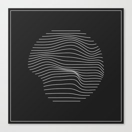 Minimal Circle Warp Canvas Print