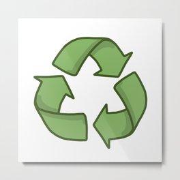Recycle Symbol Metal Print