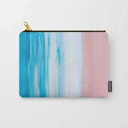 Aqua & Pink Abstract Carry-All Pouch