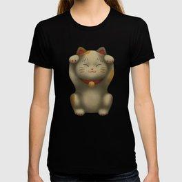 maneki-neko | Lucky Cat (White) T-shirt