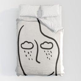 rainy soul Duvet Cover