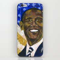 obama iPhone & iPod Skins featuring Obama by Stan Kwong