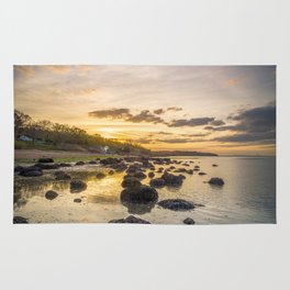Sunset The Rockery Isle of Wight Rug