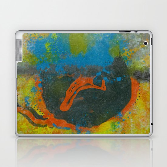 Op Ning A Hippy Folk Singer Stood On Solsbury Hill 1967 Laptop & iPad Skin