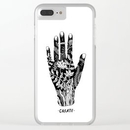 creative hand Clear iPhone Case