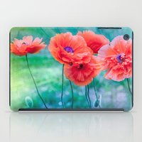 poppies iPad Cases featuring Poppies by LudaNayvelt