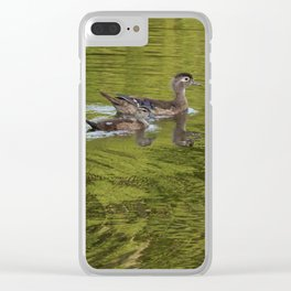 Wood duck family Clear iPhone Case