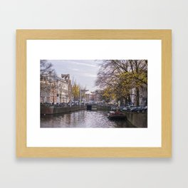 Fall in Amsterdam, Netherlands Framed Art Print