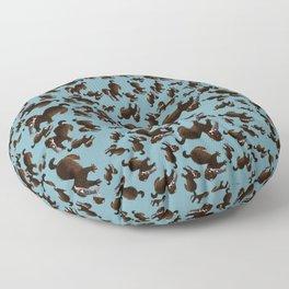 Clever Mink ( Neovison vison) Floor Pillow