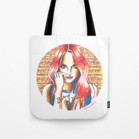 britney spears Tote Bags featuring Britney Spears' Britney Jean Album by Eduardo Sanches Morelli