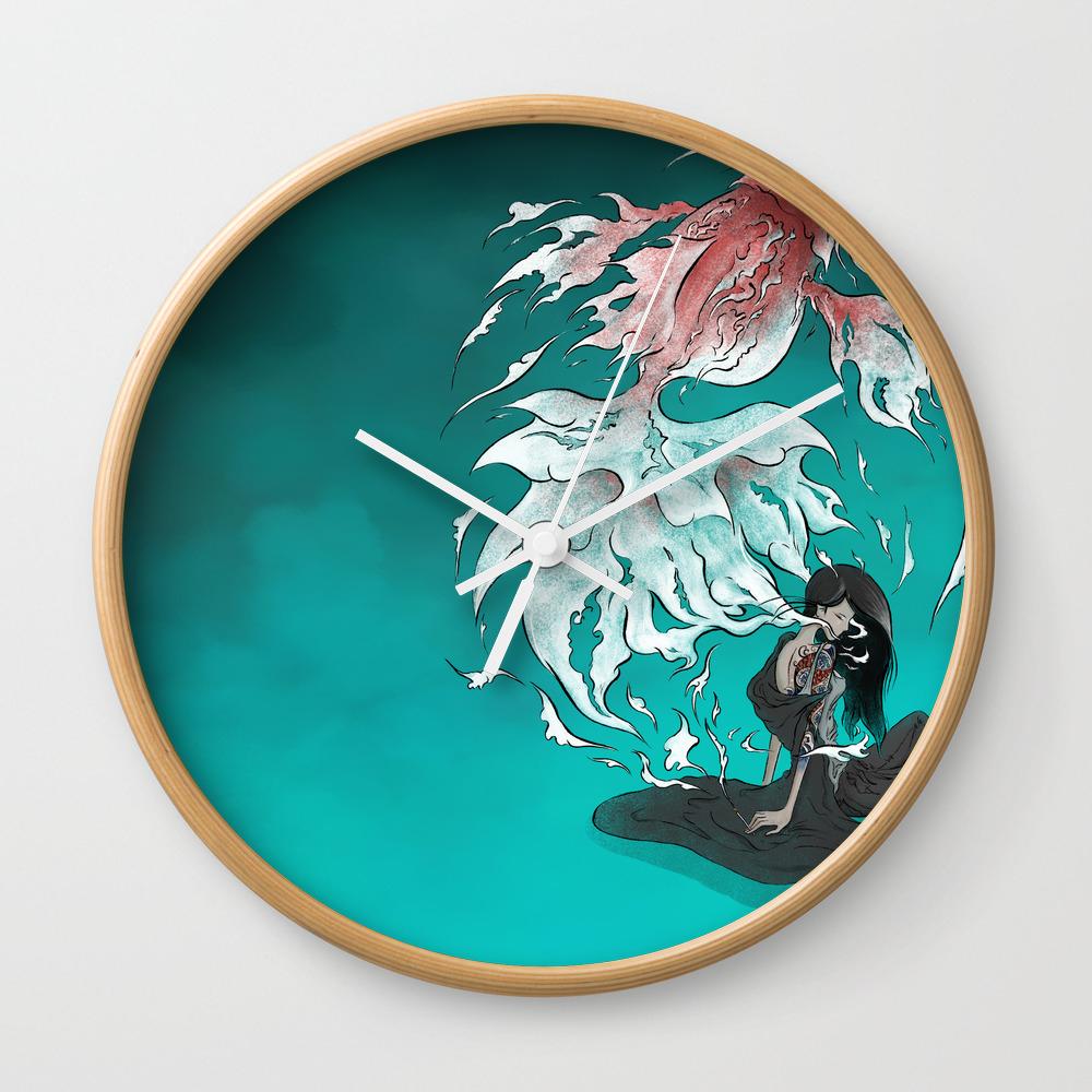 Carp Tattoo Wall Clock by Alex_lu CLK8538628
