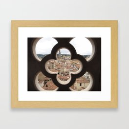 Right outside your window Framed Art Print