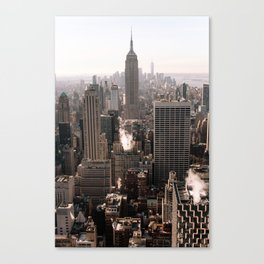 View on the Empire State Building from Top of the Rock in New York City NY   Fine Art City Travel Photography   USA Canvas Print