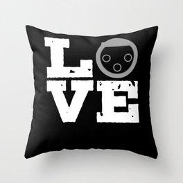 Sound Engineer XLR Connector Love Audio Mixer Throw Pillow