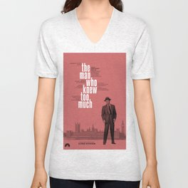 Hitchcock: The Man Who Knew Too Much Unisex V-Neck
