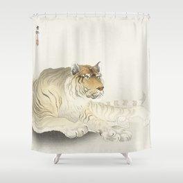 Tiger Illustration Shower Curtain