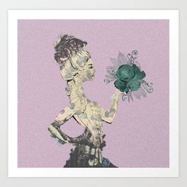 Steampunk Lady Rose Art Print