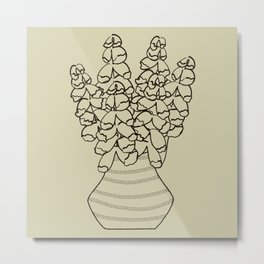 Bold Bouquet No 05 (square) Metal Print