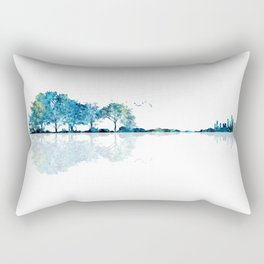 Nature Guitar - Watercolor Blues Rectangular Pillow