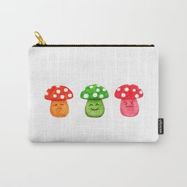 funny mushroom watercolor painting Carry-All Pouch