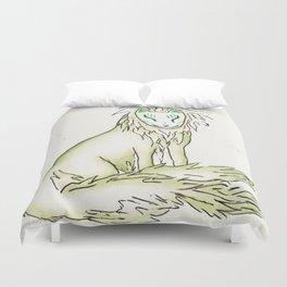 Moss Hidden Kitsune.  Duvet Cover