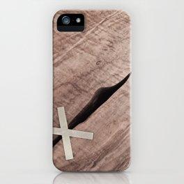 WOOD CROSS iPhone Case