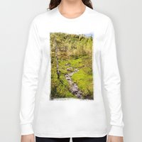 river Long Sleeve T-shirts featuring River by Julie Luke