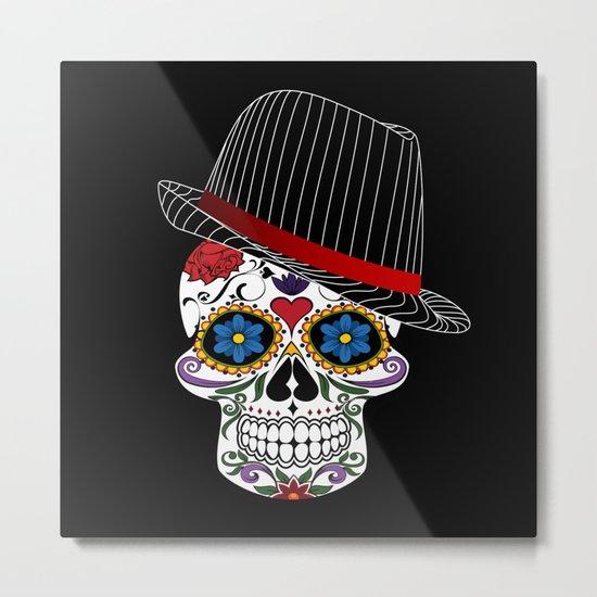 Hipster Modern and Trendy Skull Horror Metal Print