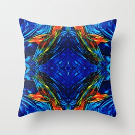 Colorful Blue Abstract - Peace With The Past by Sharon Cummings Throw Pillow