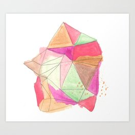 Watercolor Gem Art Print