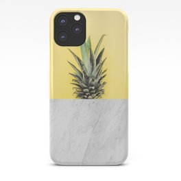 Pineapple and marble iPhone Case
