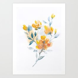 Watercolor Floral #3 Art Print