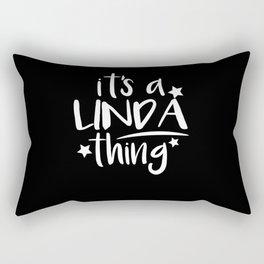 Linda Thing Gifts for Linda Rectangular Pillow
