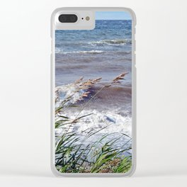 Waves Rolling up the Beach Clear iPhone Case
