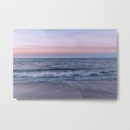 Pastel beach sunset Metal Print