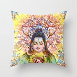 Sunflower Shiva Throw Pillow
