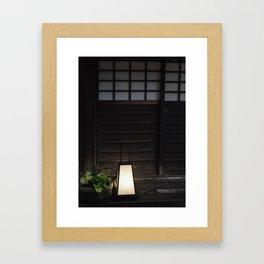 Japanese Lantern Outside Old House Framed Art Print